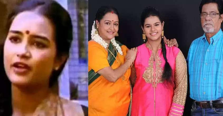 குடும்பத்தினருடன் நடிகை சித்ரா