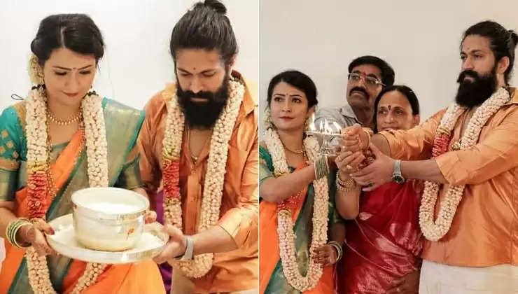 மனைவி ராதிகா பண்டிட்டுடன் நடிகர் யஷ்