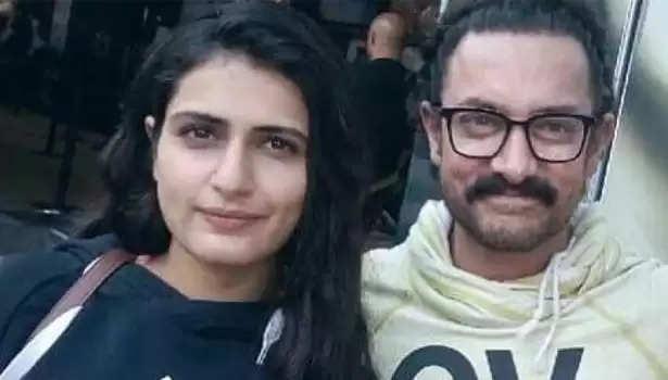 ஃபாத்திகா சனா ஷேக்குடன் நடிகர் ஆமிர்கான்