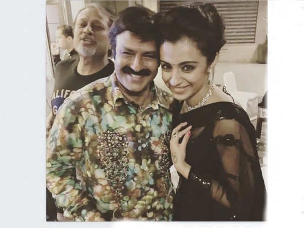 நடிகர் பாலகிரிஷ்ணா மற்றும் த்ரிஷா